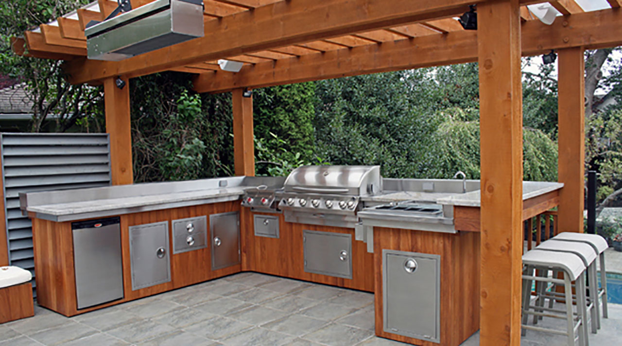 outdoor kitchens the hot tub factory long island hot tubs. Black Bedroom Furniture Sets. Home Design Ideas