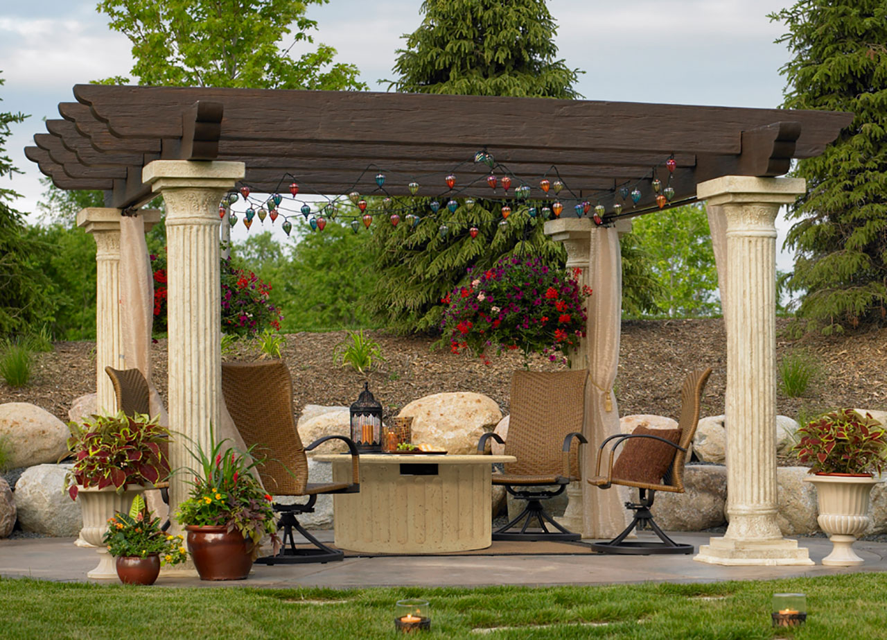 pergolas in long island ny the hot tub factory. Black Bedroom Furniture Sets. Home Design Ideas