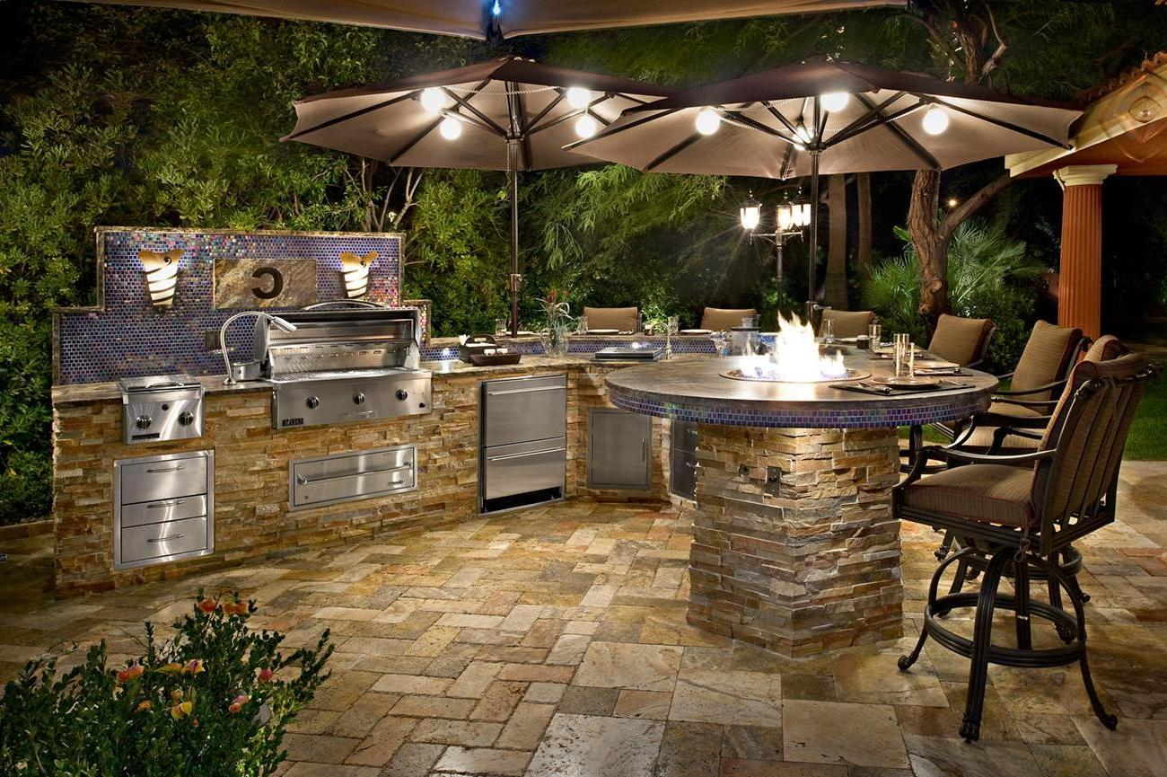 Outdoor kitchens the hot tub factory long island hot tubs for Backyard kitchen design ideas
