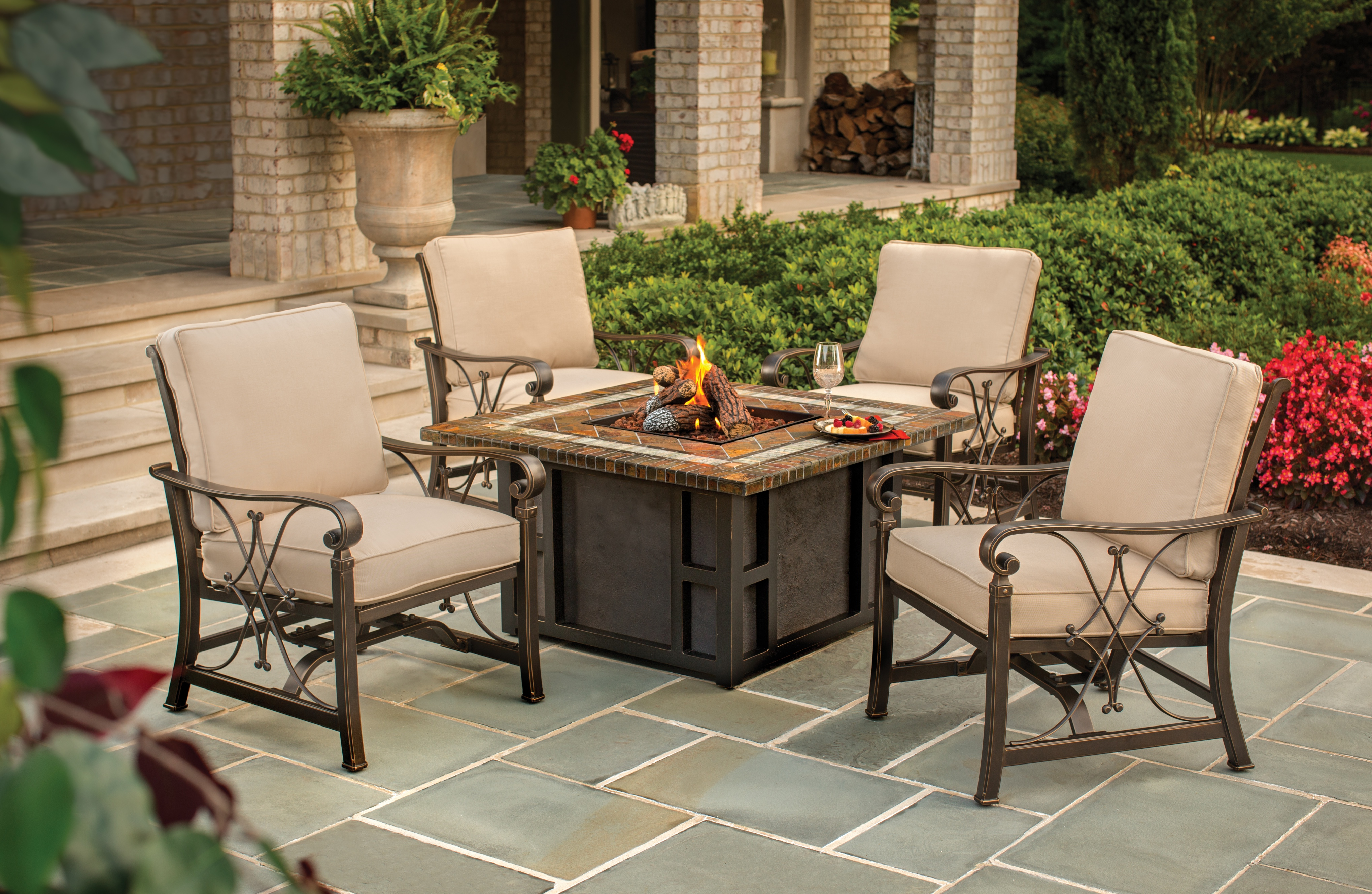 table with firepit and chairs table design ideas rh jmlage net